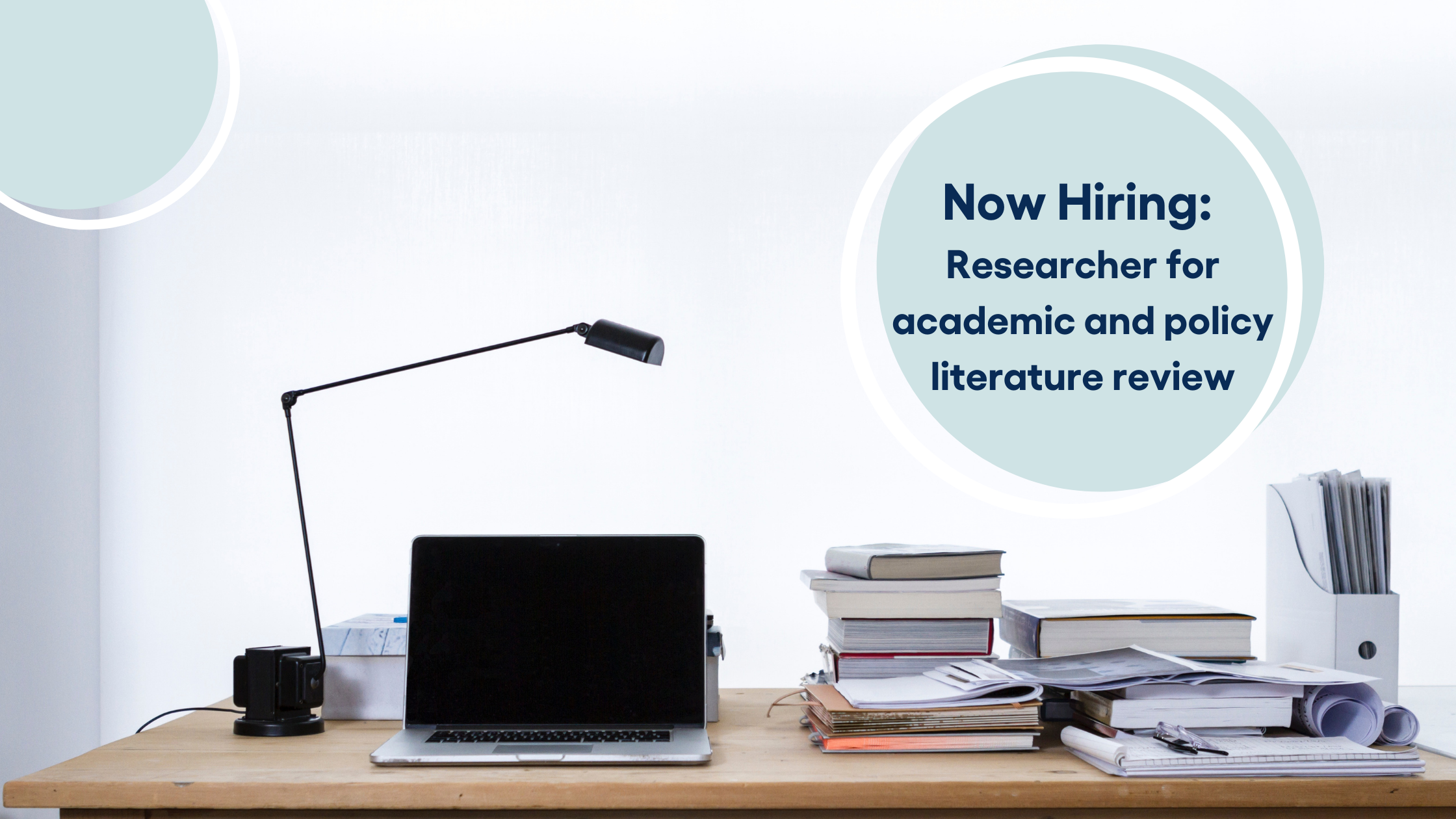 Now Hiring: Research contractor for academic and policy literature review